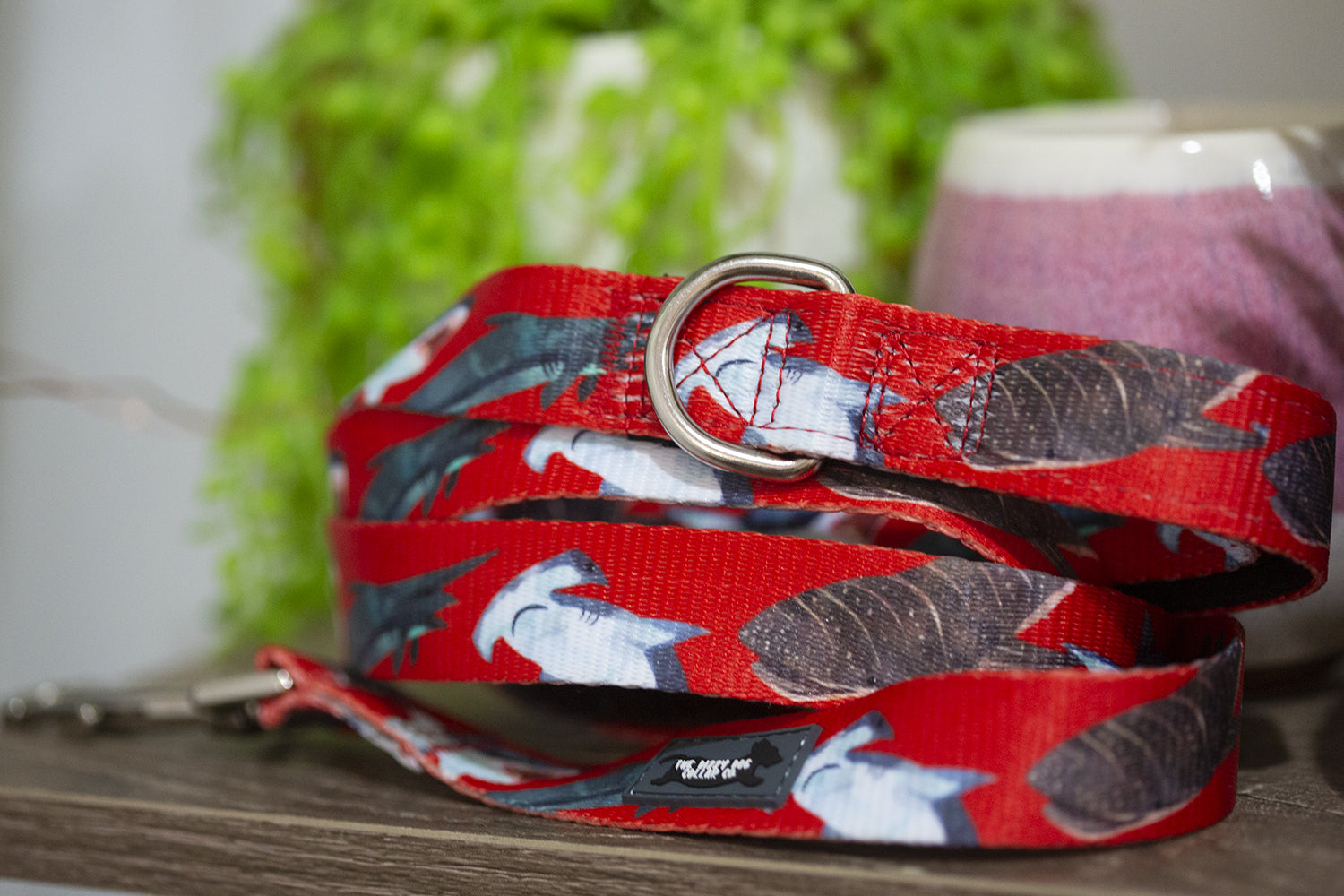 Red Sharks Dog Leash-Dizzy Dog Collars