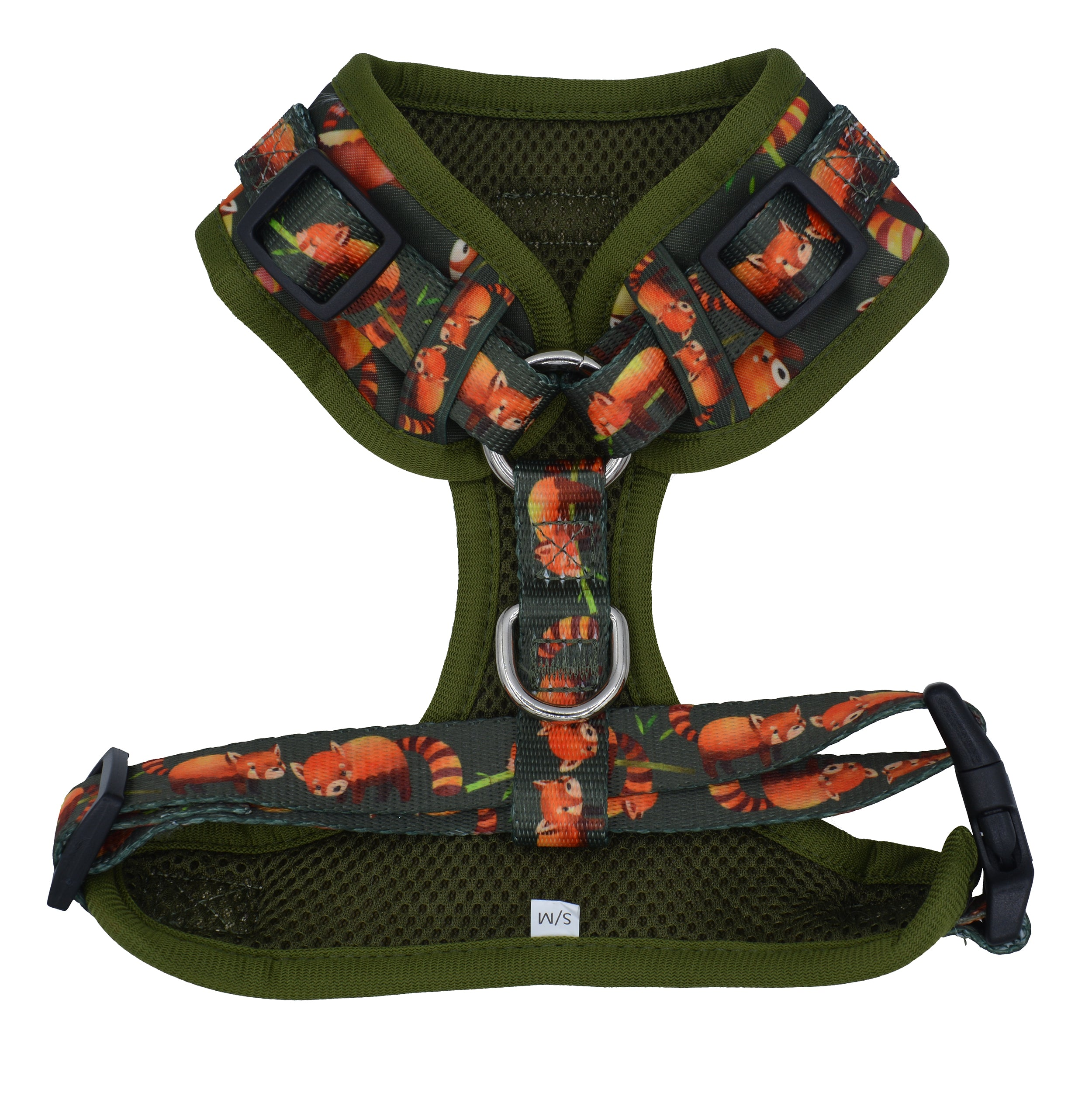 DOG HARNESS - Red Panda - Neck Adjustable Harness (Premade)-Harness-Dizzy Dog Collars