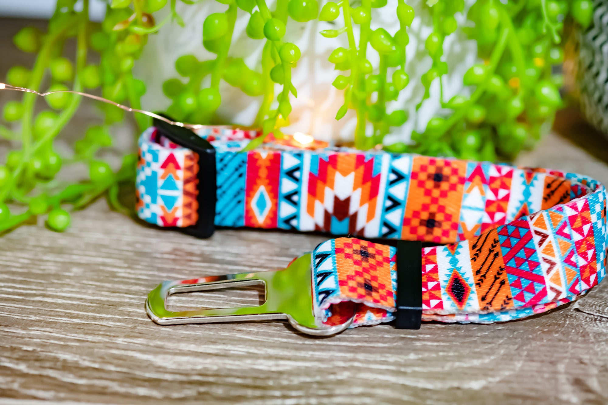Dog Seatbelt - Rustic Aztec-Dizzy Dog Collars-Dizzy Dog Collars