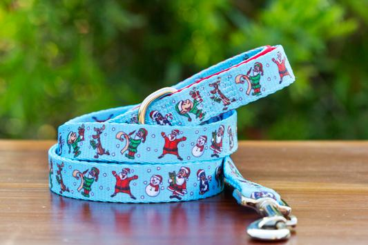 Saint Nick Dog Leash-Dizzy Dog Collars-Dizzy Dog Collars