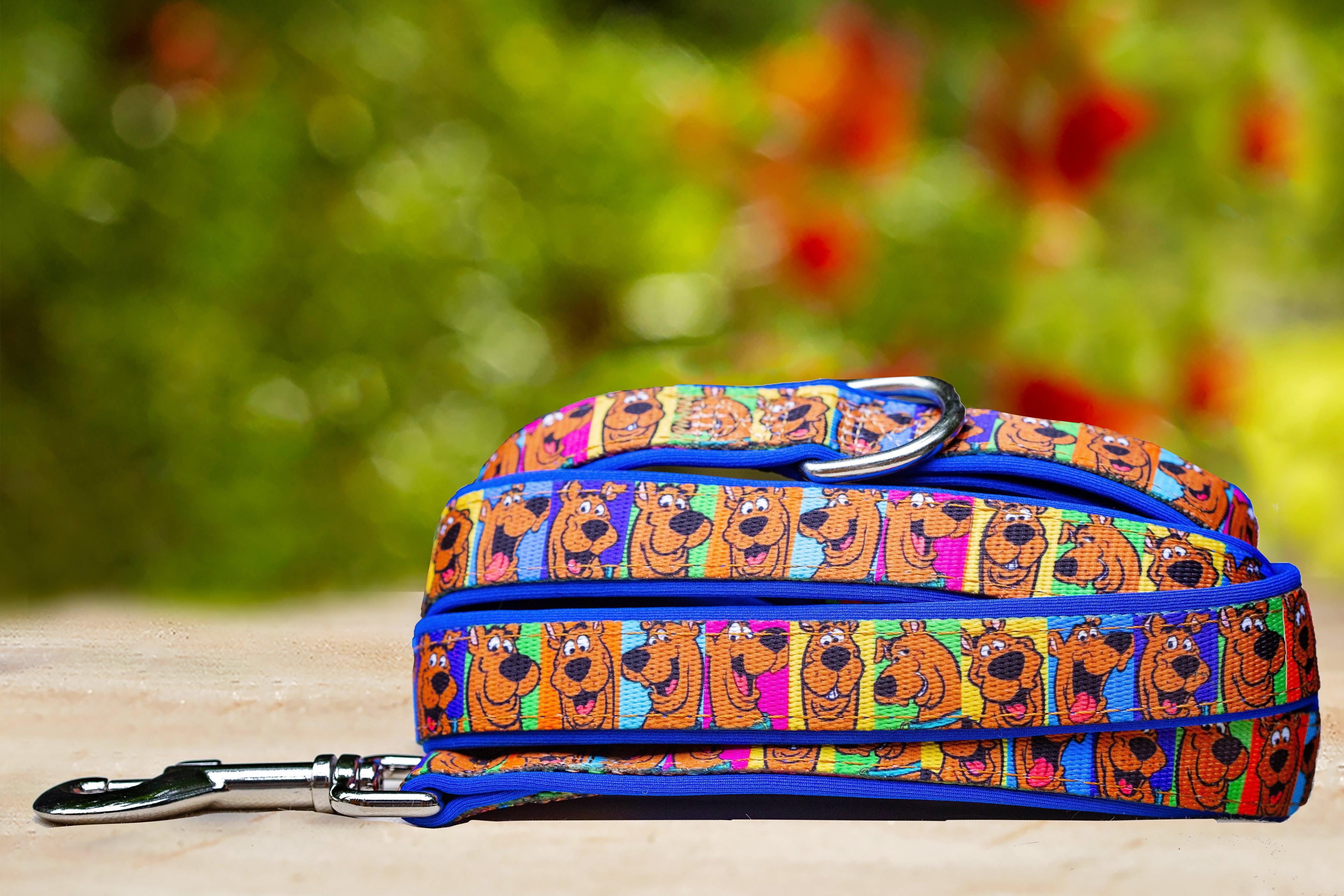 Scooby Doo Dog Lead (Premade) Blue-Dizzy Dog Collars