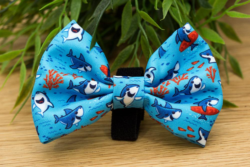 Sharks Bow Tie - Small & Large-Dizzy Dog Collars