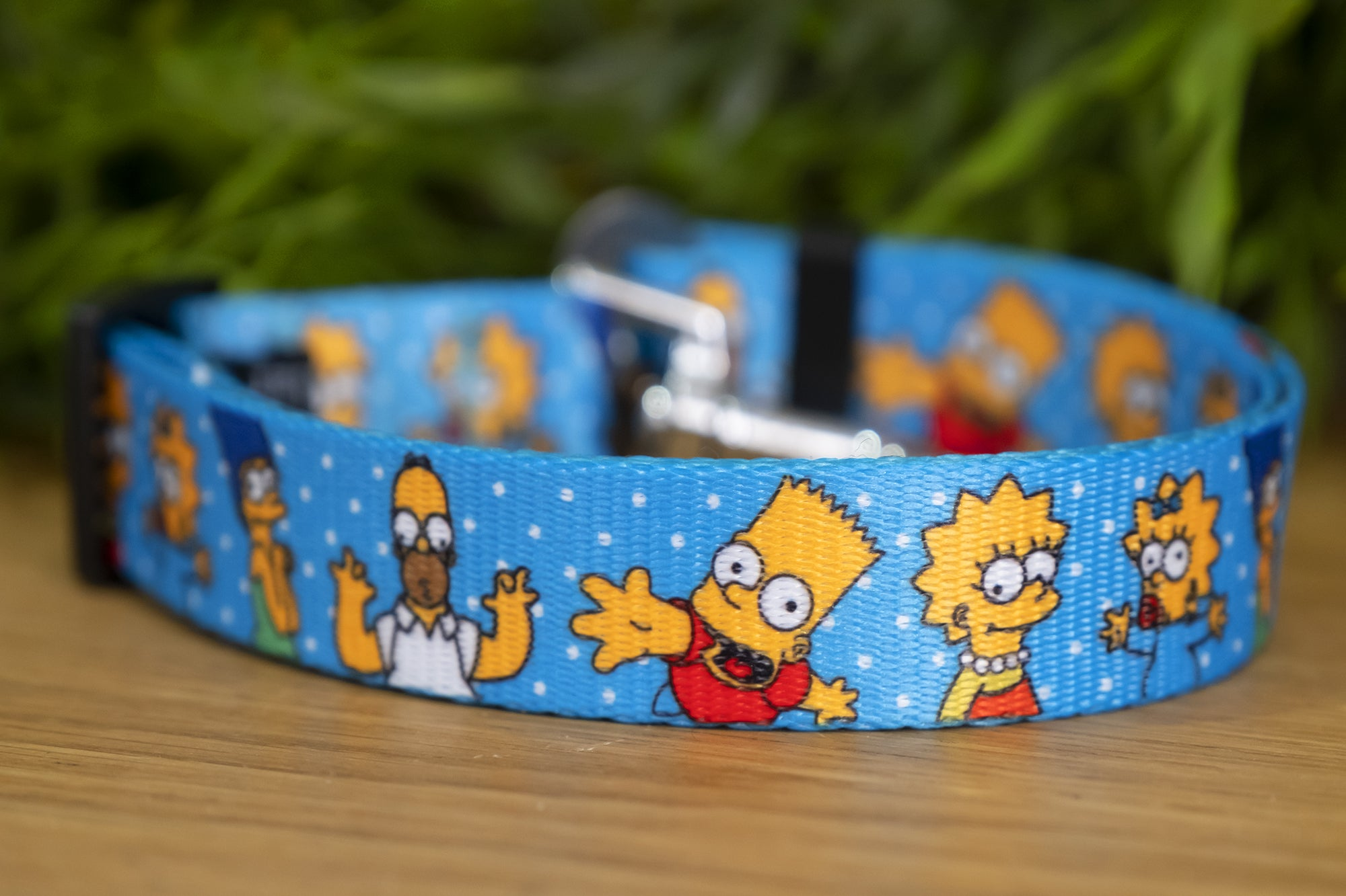 Dog Car Seatbelt / Dog Car Restraint Tether - The Simpsons (Handmade to order)-Dizzy Dog Collars