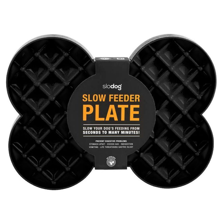 SloDog - Slow Feeder Plate (Black)-Dizzy Dog Collars-Dizzy Dog Collars