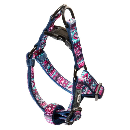 Step In Dog Harness - Purple Aztec (Premade)
