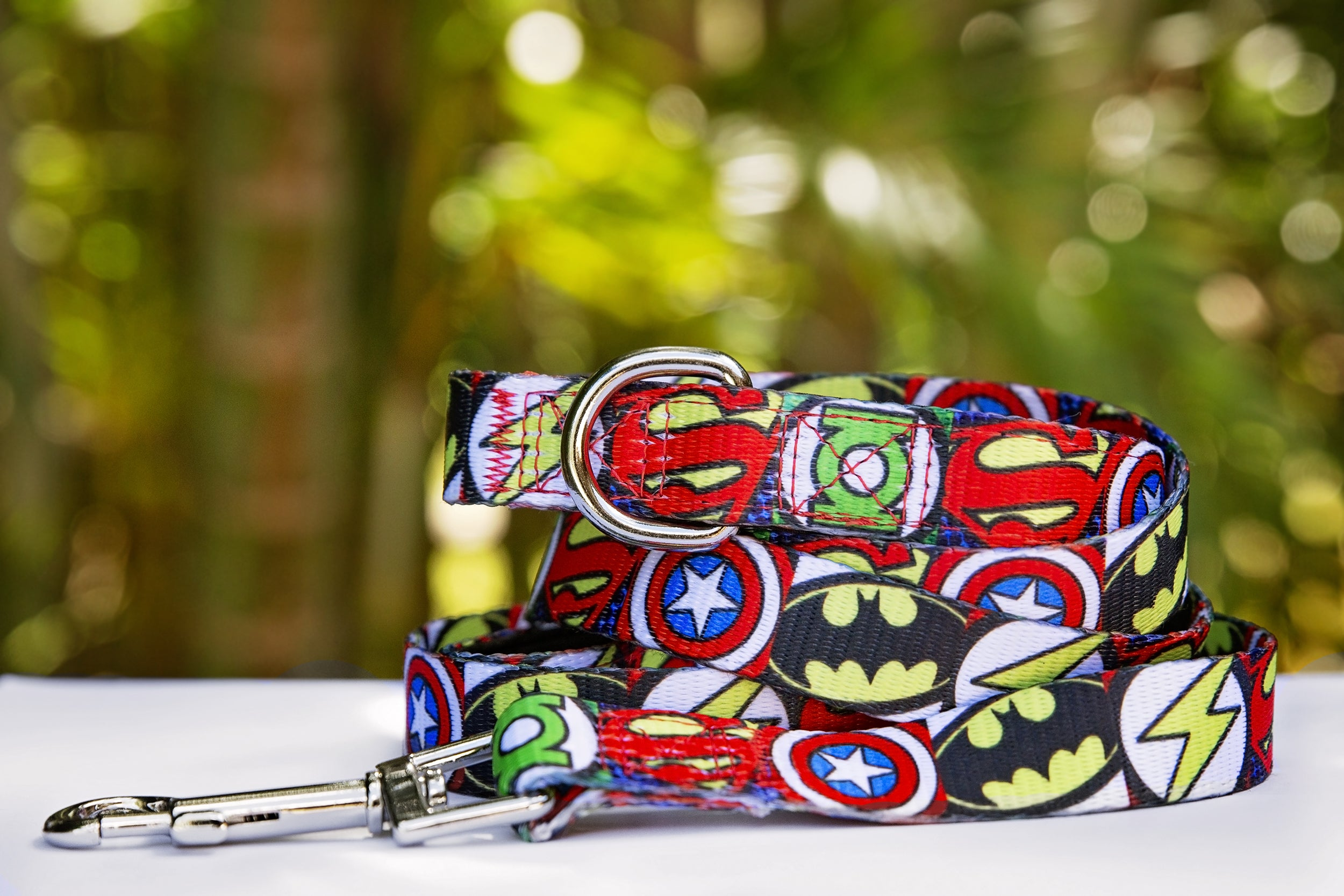 Superhero Dog Leash (Pre-made)-Leash-Dizzy Dog Collars