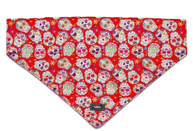 Sugar Skulls Bandana-Dizzy Dog Collars-Medium/Large-Dizzy Dog Collars