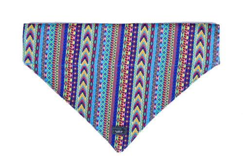 Summer Aztec Dog Bandana - Slip on / Over the collar bandana