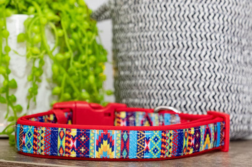 Summer Aztec Dog Collar (Premade)