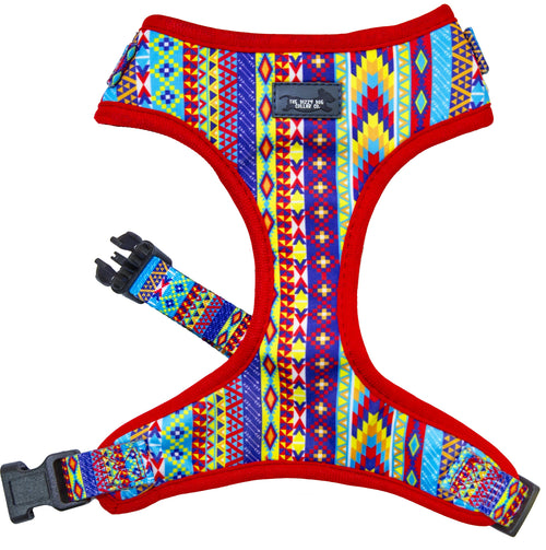 DOG HARNESS - Summer Aztec - Neck Adjustable (Premade)