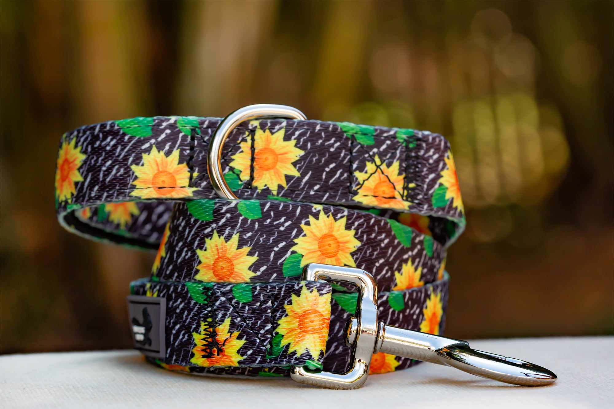 Sunflowers Dog Leash (Neoprene)-Dizzy Dog Collars