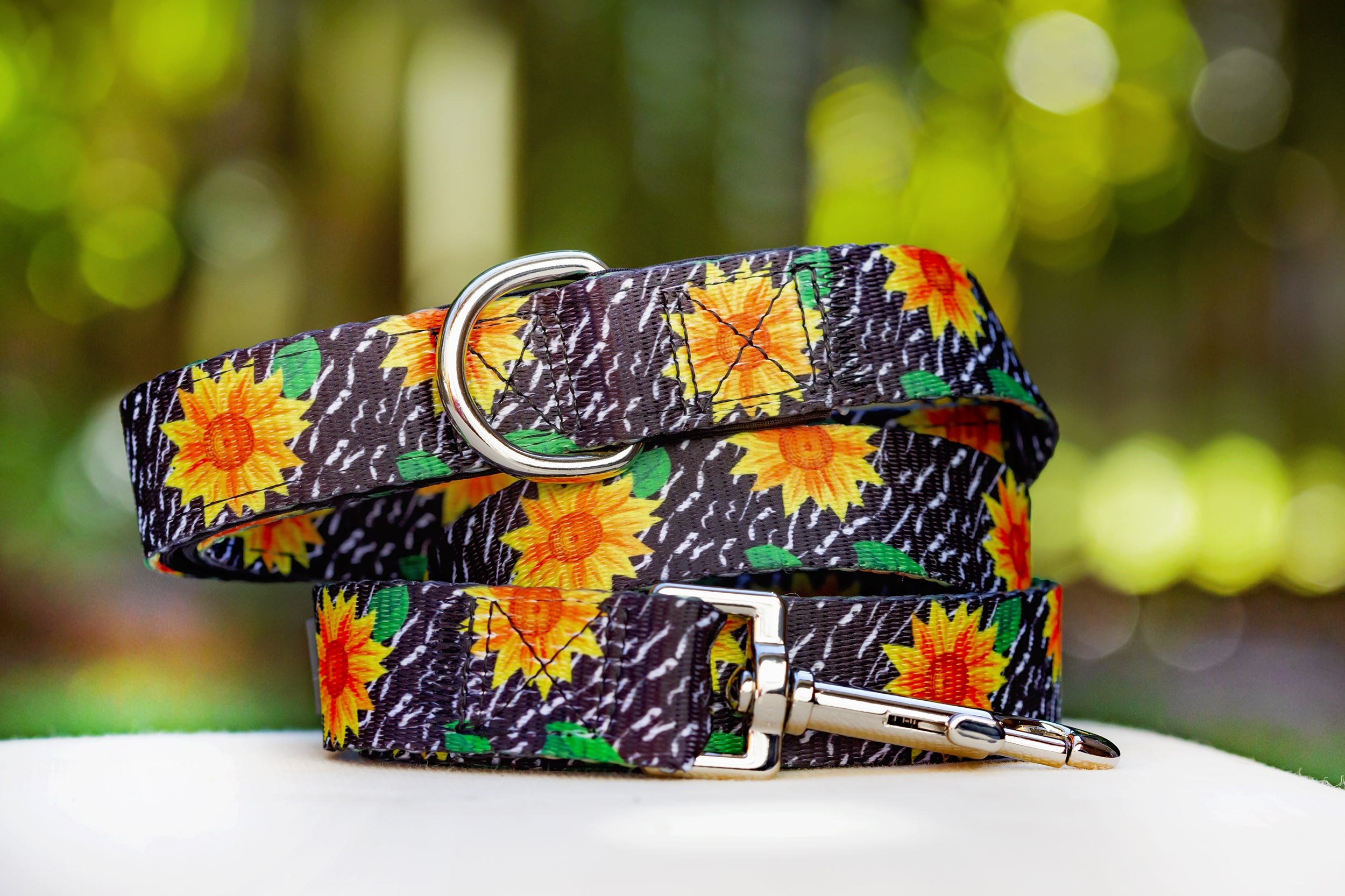 Sunflowers Dog Leash (Premade)-Dizzy Dog Collars