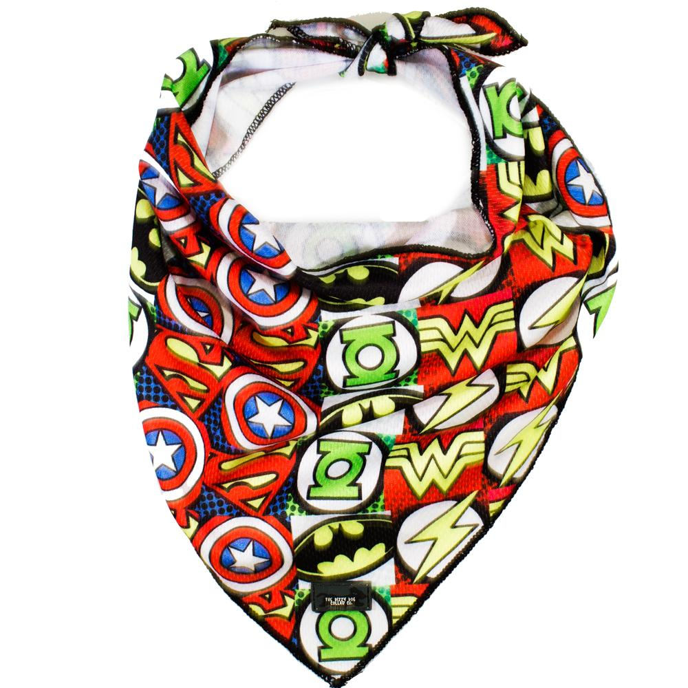 Superhero - Tie Up Dog Bandana-Dizzy Dog Collars-Dizzy Dog Collars