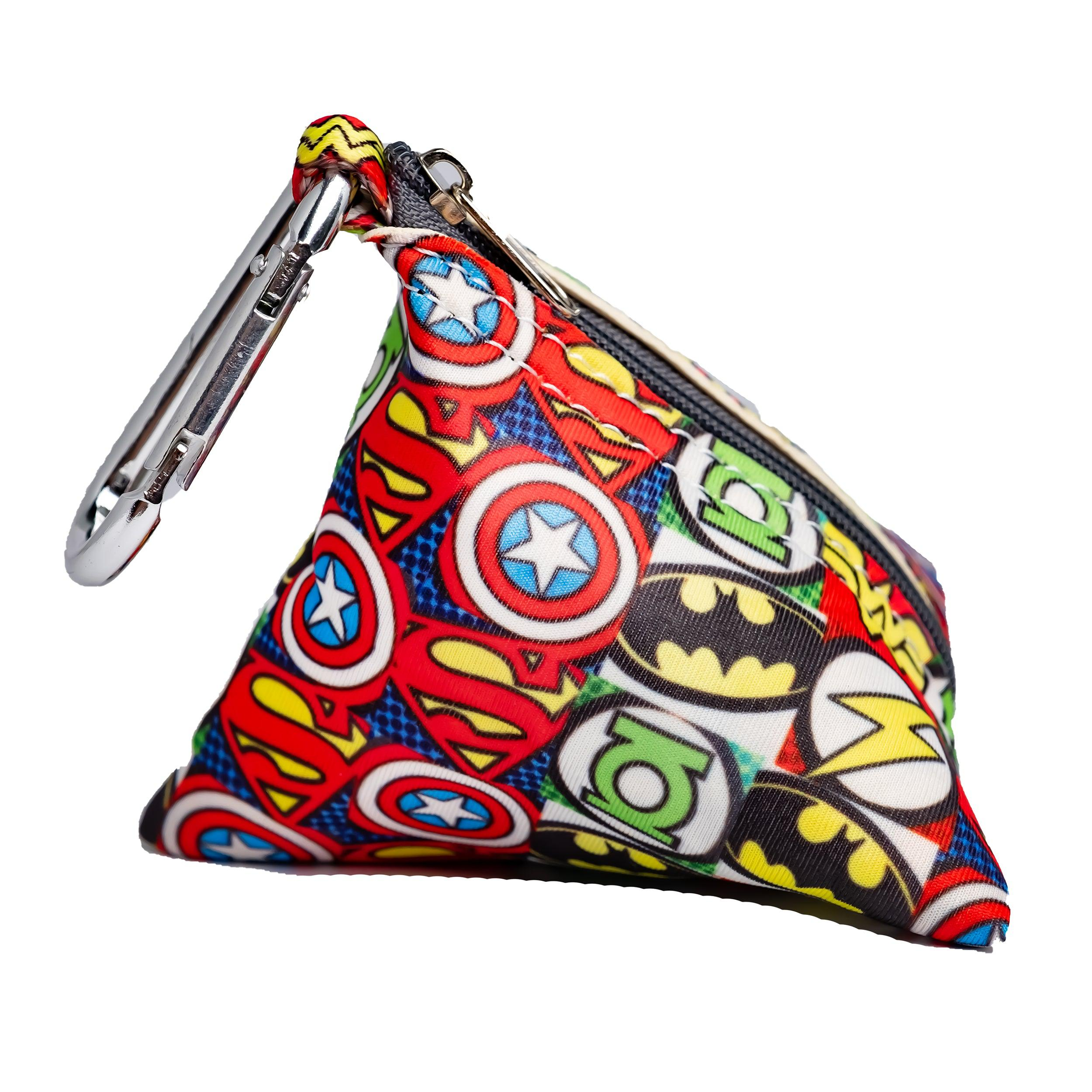 Superhero Pocket - For Poop Bags, Treat and/or Keys/Coins-Dizzy Dog Collars-Dizzy Dog Collars