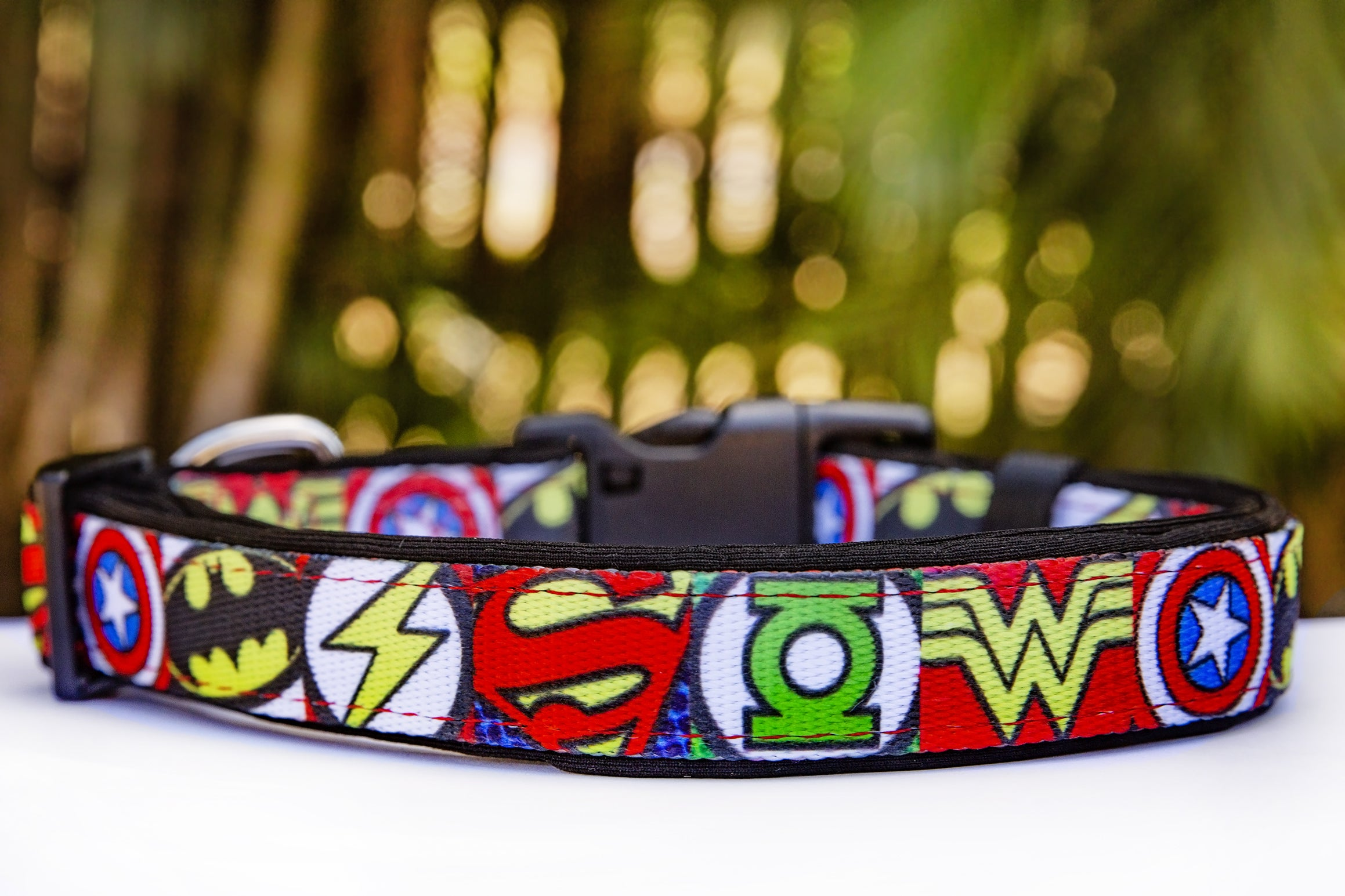Superhero Dog Collar (Premade)-Dog Collar-Dizzy Dog Collars