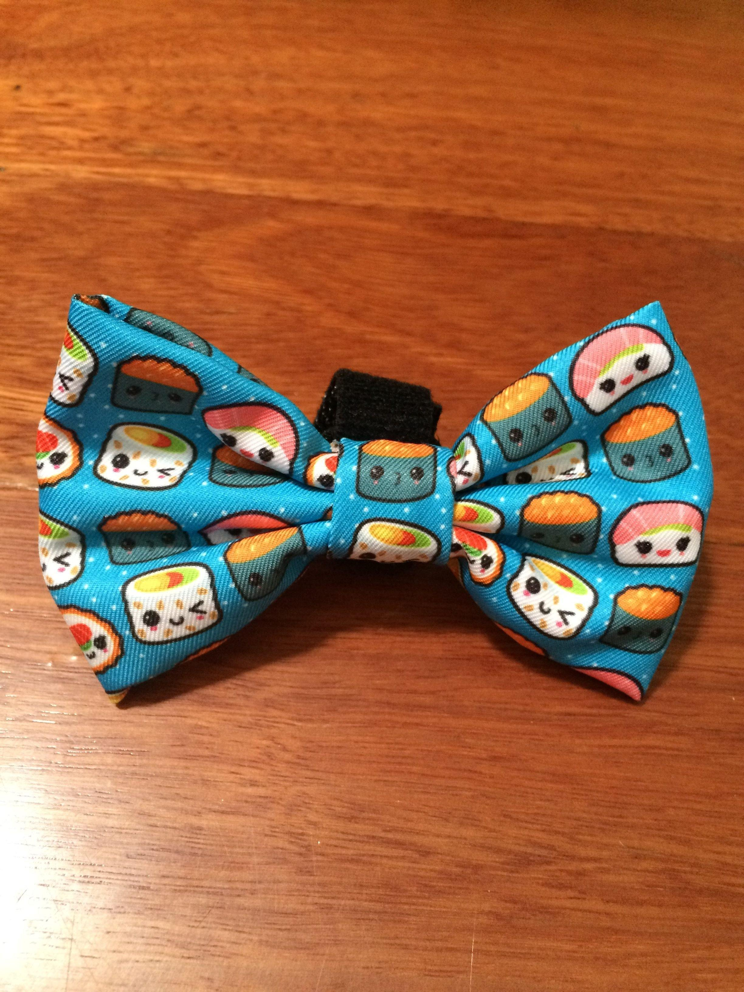 Sushi Bow Tie - Small & Large-Dizzy Dog Collars-Large-Dizzy Dog Collars