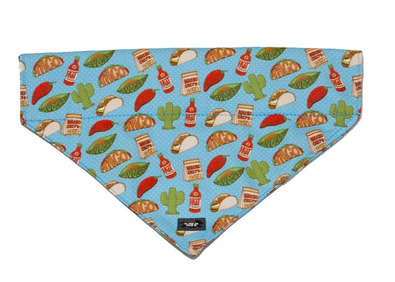 Taco/Mexican Bandana-Dizzy Dog Collars-Medium/Large-Dizzy Dog Collars