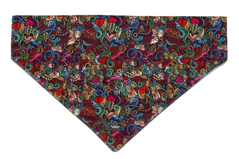 Tattoo Bandana-Dizzy Dog Collars-Med/Large-Dizzy Dog Collars