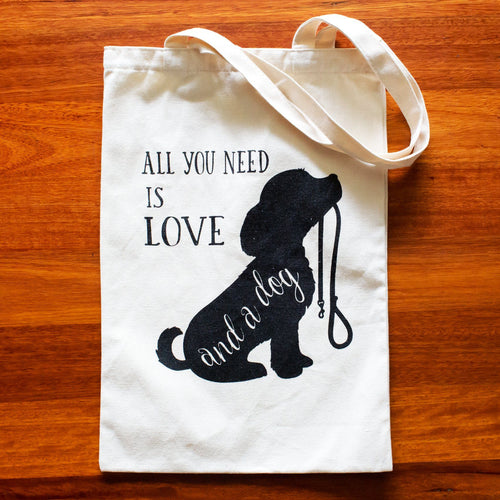 All You Need is a Dog Tote Bag