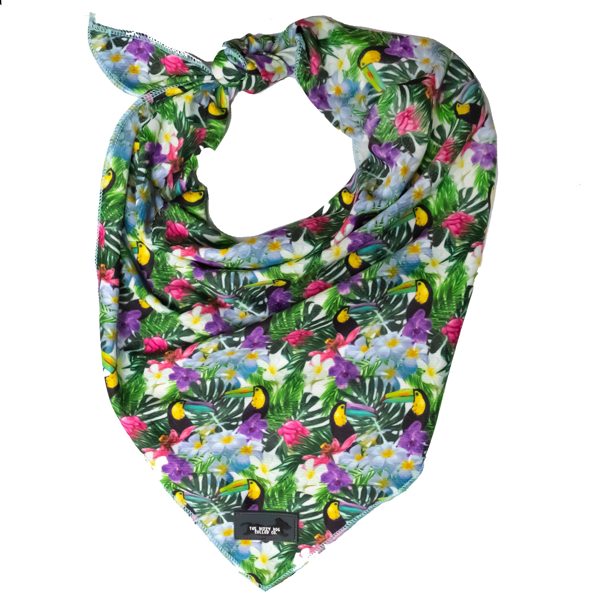 Dog Bandana - Tie Up Bandana - Toucans-Dizzy Dog Collars
