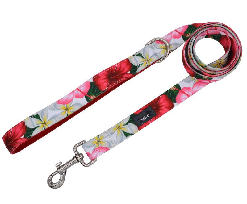 Tropical Hibiscus Dog Leash-Dizzy Dog Collars-Dizzy Dog Collars