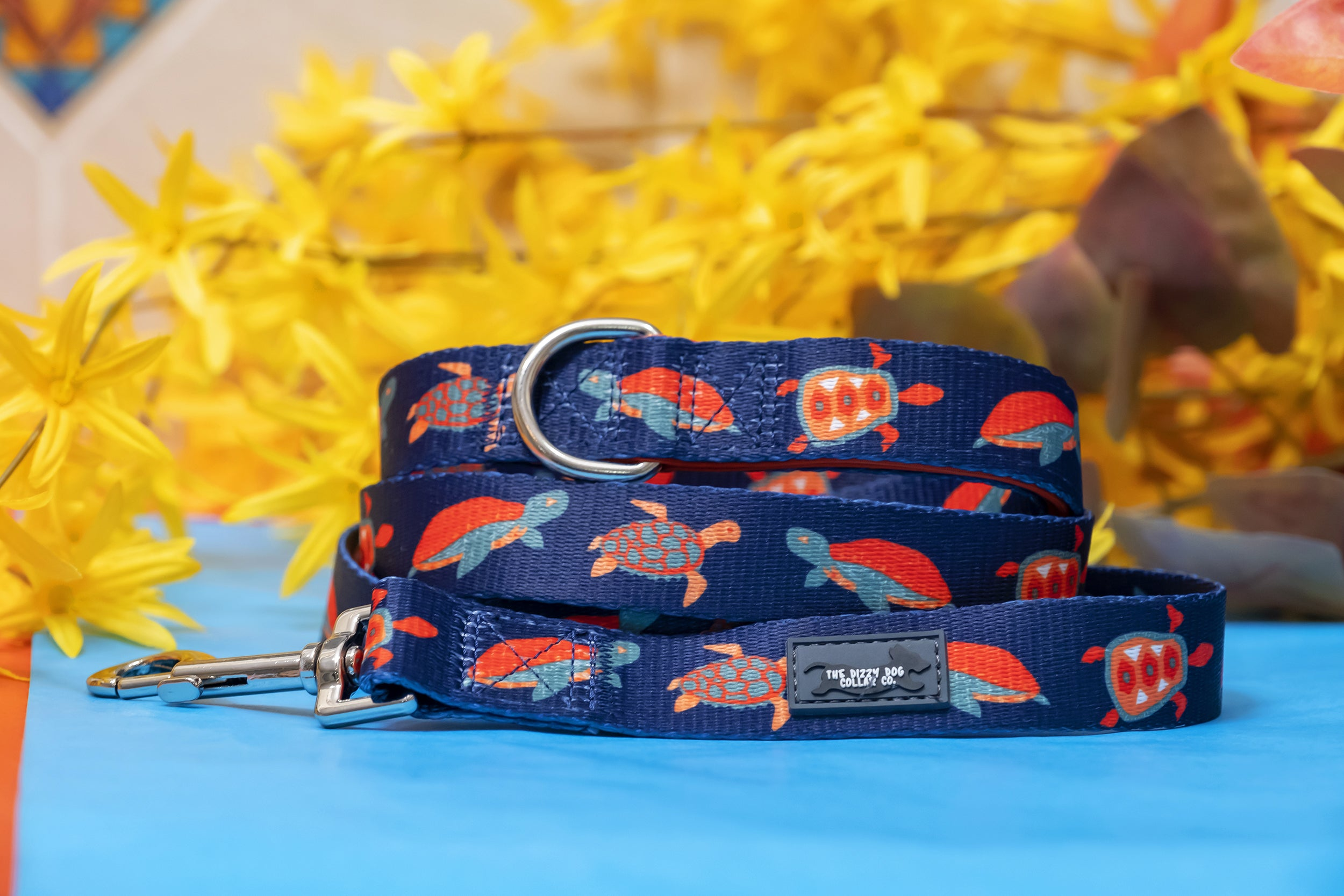Tortie Turtle Dog Leash-Dizzy Dog Collars