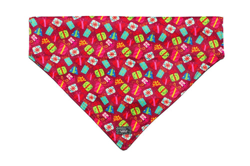 Xmas Presents - Slip on Dog Bandana
