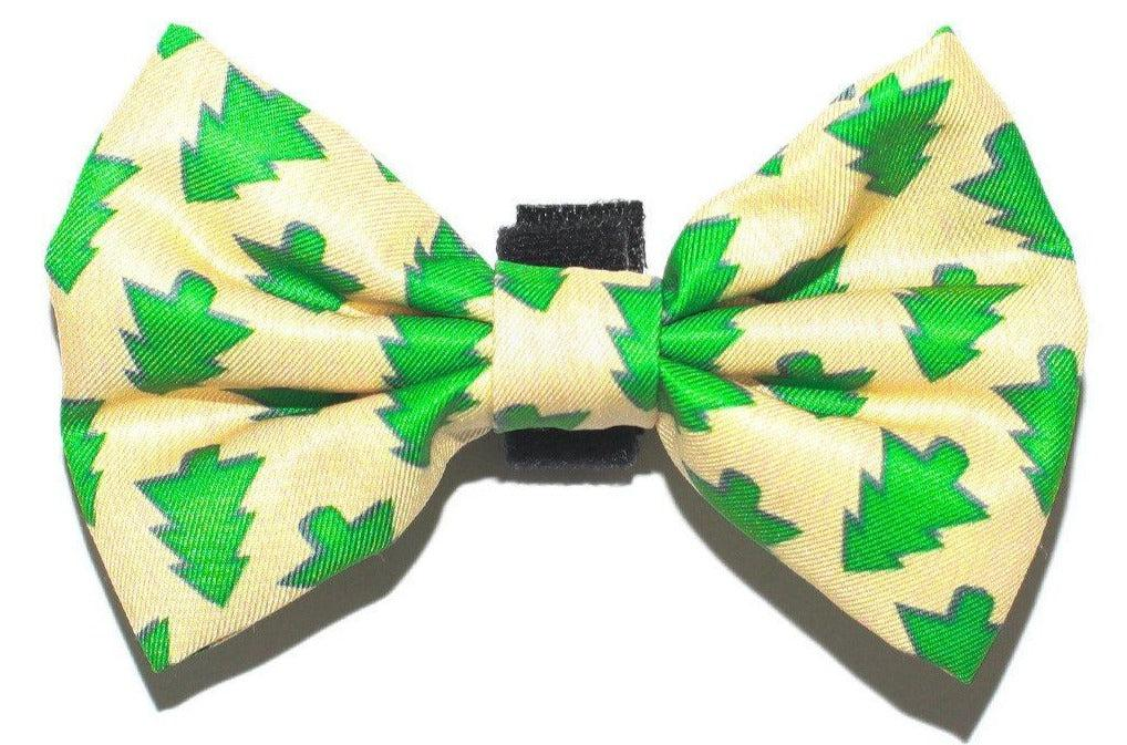 Xmas Trees Bow Tie - Small & Large-Dizzy Dog Collars-Dizzy Dog Collars