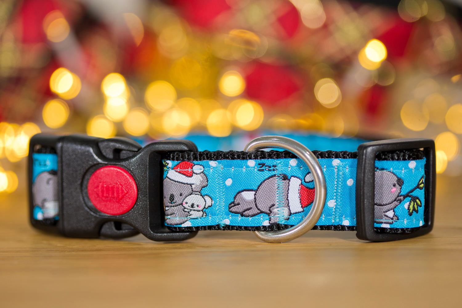 "Christmas Koala Dog Collar / XS-XL-Dog Collar-Dizzy Dog Collars-XS 5/8"" (1.5cm) Wide-Dizzy Dog Collars"