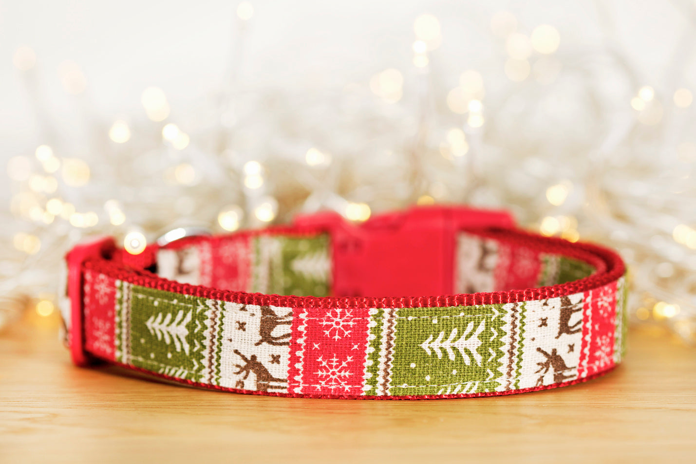 Winter Sweater Christmas Dog Collar / S-XL