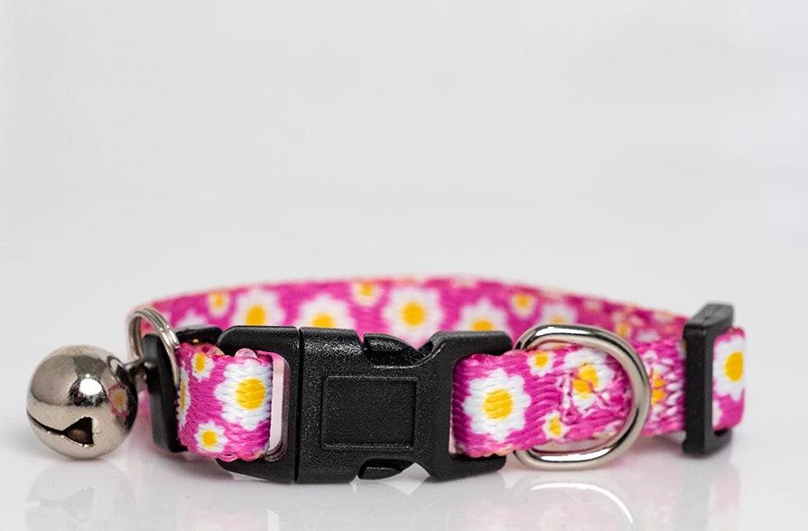 Retro Daisies Cat Collar / Toy Breed Dog Collar-Dizzy Dog Collars-Dizzy Dog Collars