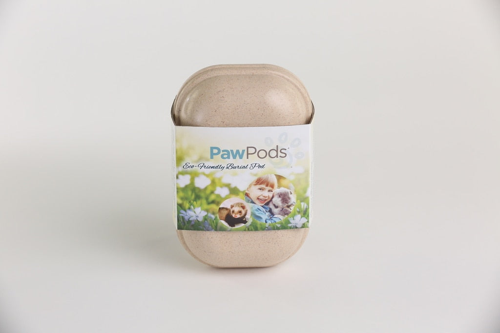 Paw Pods - Small Pod - eco-friendly, biodegradable pet burial pods