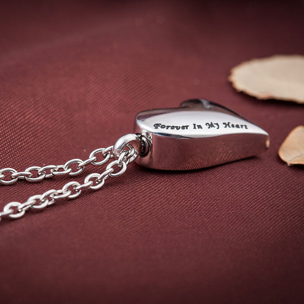 Son Heart Necklace Urn Pendant - Cremation Jewelry to keep your loved one's ashes.