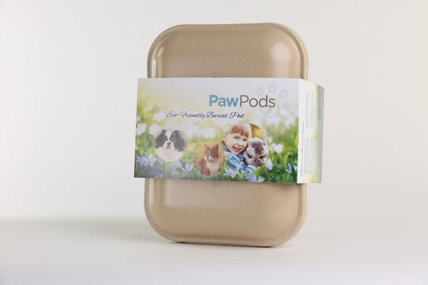 Paw Pods - Medium Pod - eco-friendly, biodegradable pet burial pods