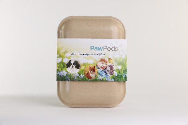 Paw Pods - Medium Pod - eco-friendly, biodegradable pet burial pods - Memorial Keepsake