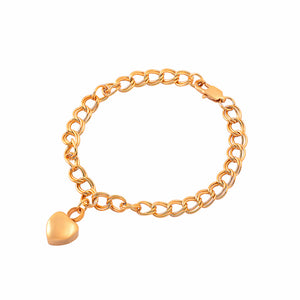 Stainless Steel Bracelet with Urn Heart Charms Bangle for cremation Ashes. Gold Color.