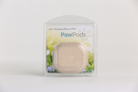 Paw Pods - Micro Pod - eco-friendly, biodegradable pet burial pods