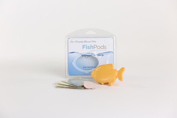 Paw Pods - Fish Pod - eco-friendly, biodegradable pet burial pods