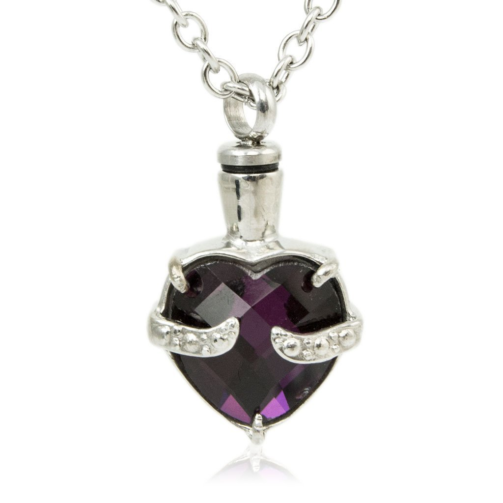 Byzantium Heart Cremation Urn Pendant Necklace - Urn Of Memories