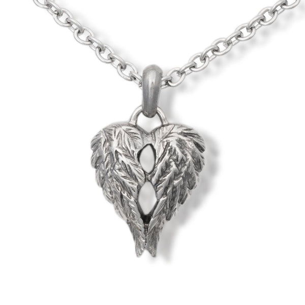 Companion Cremation Pendant Urn Necklace - Angel Wings - Urn Of Memories
