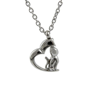 Cremation Pendant - Pet Urn Necklace - My Cat, My Heart - Urn Of Memories