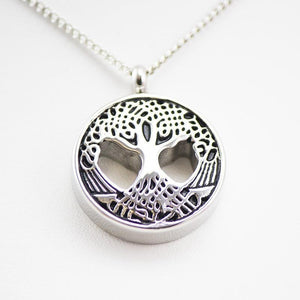 Cremation Urn Necklace Pendant for Ashes - Sacred Tree - Urn Of Memories