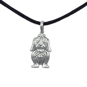 Cute Dog Cremation Pendant - Sterling Silver - Urn Of Memories