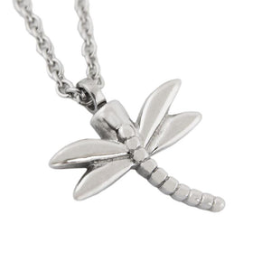 Dragonfly Cremation Pendant - Stainless Steel - Urn Of Memories