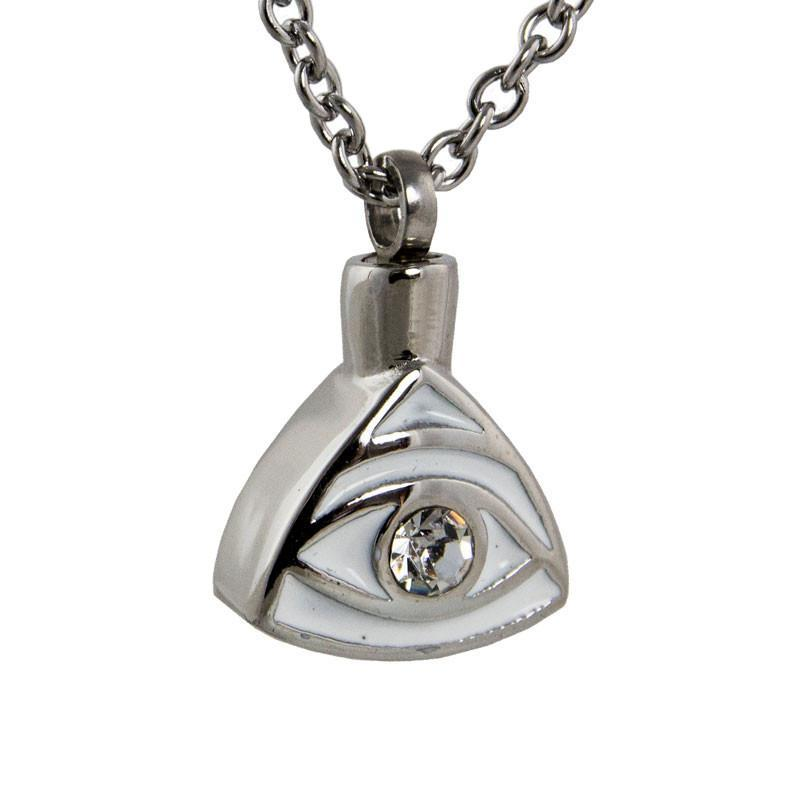 Eye of Providence Cremation Pendant - Stainless Steel - Urn Of Memories