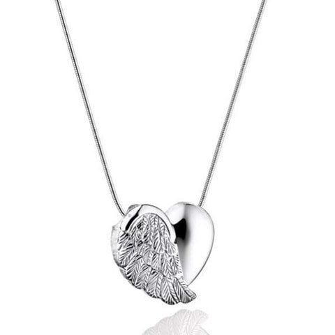 NEW! Heart Wings Urn Necklace For Cremation Ashes Jewelry Memorial Necklace - Urn Of Memories