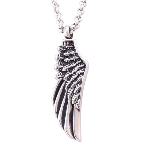 Single Angel Wing Pendant Necklace Cremation Jewelry Ash Urn Necklaces Memorials