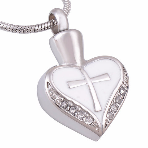 Memorial Cremation Heart Shaped Urn pendant  - Urn Necklace