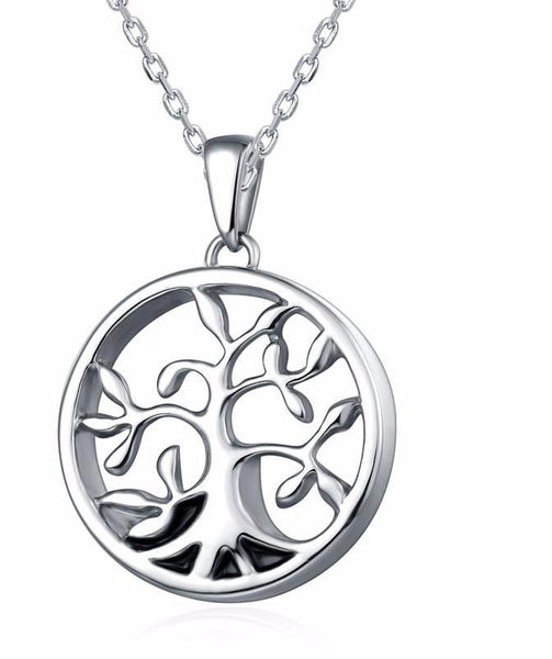 Family Tree design pendant for cremation ashes - Unique design - tree of life -