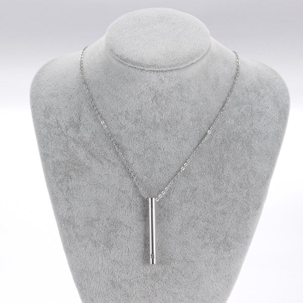 New Arrival!  Cremation Necklace Urn Pendant  - Pillar design.